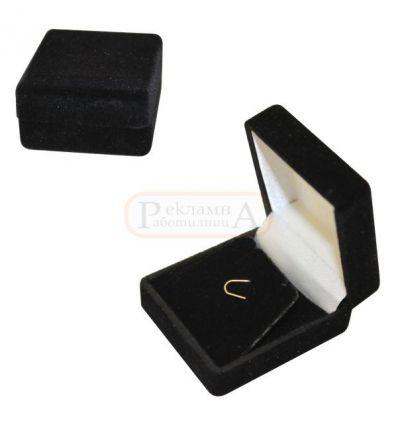 плюшена кутийка за обеци и/или висулка