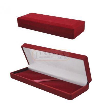 плюшена кутия за гривна, писалка, химикалка
