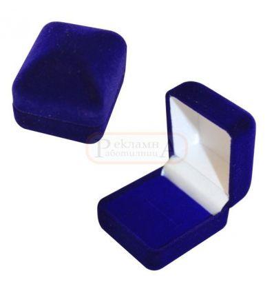 RD 302 Bl плюшена кутийка за пръстен или значка