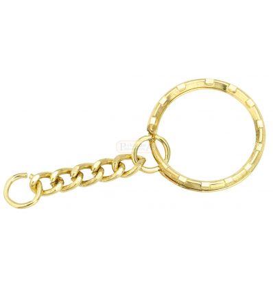 Верижка за ключодържатели, златиста