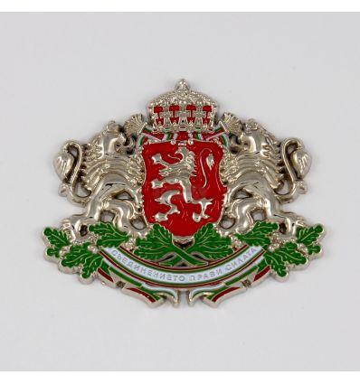Герб на Република България, сребрист, оцветен